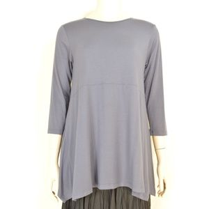 Comfy USA top SZ XS gray asymmetrical full flowing